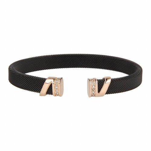 Bless My Bendel schwarzes Clip Armband mit Zirkonia