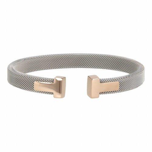 Bless My Bendel Silber Clip Armband mit Rosenanhänger