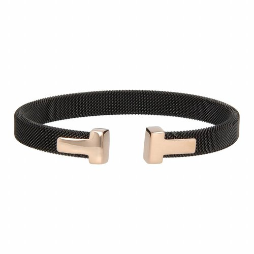 Bless My Bendel black clip bracelet with rose charm