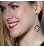 Hollywood Chique zilver- en goudkleurige edelstalen oorbellen