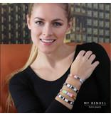 Katina Chique rosékleurige edelstalen armband met vrolijke kleuren