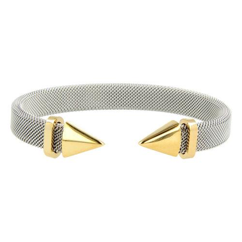 Bless My Bendel zilveren klemarmband met gouden punt