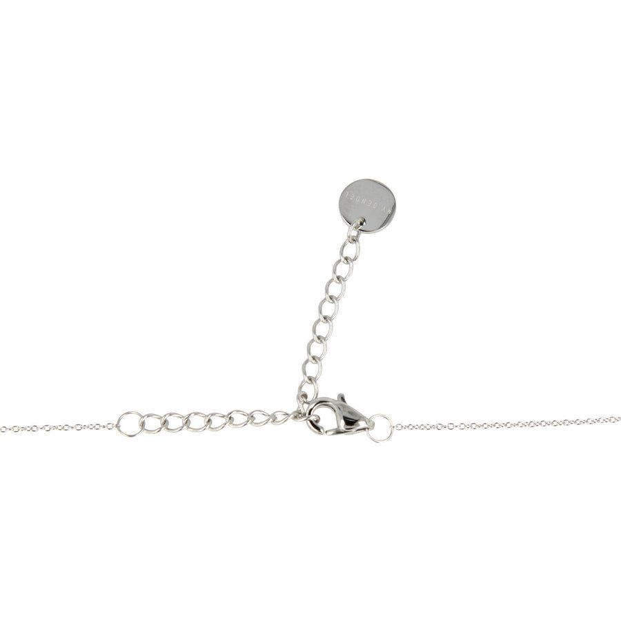Godina Fijne zilverkleurige  ketting met klein bolletje