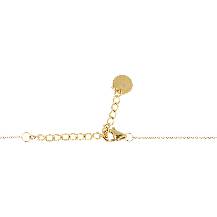 Godina Gold-colored necklace with a sophisticated black ceramic sphere