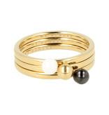 Godina 14 Karaats goudkleurige edelstalen ring met verfijnde bol