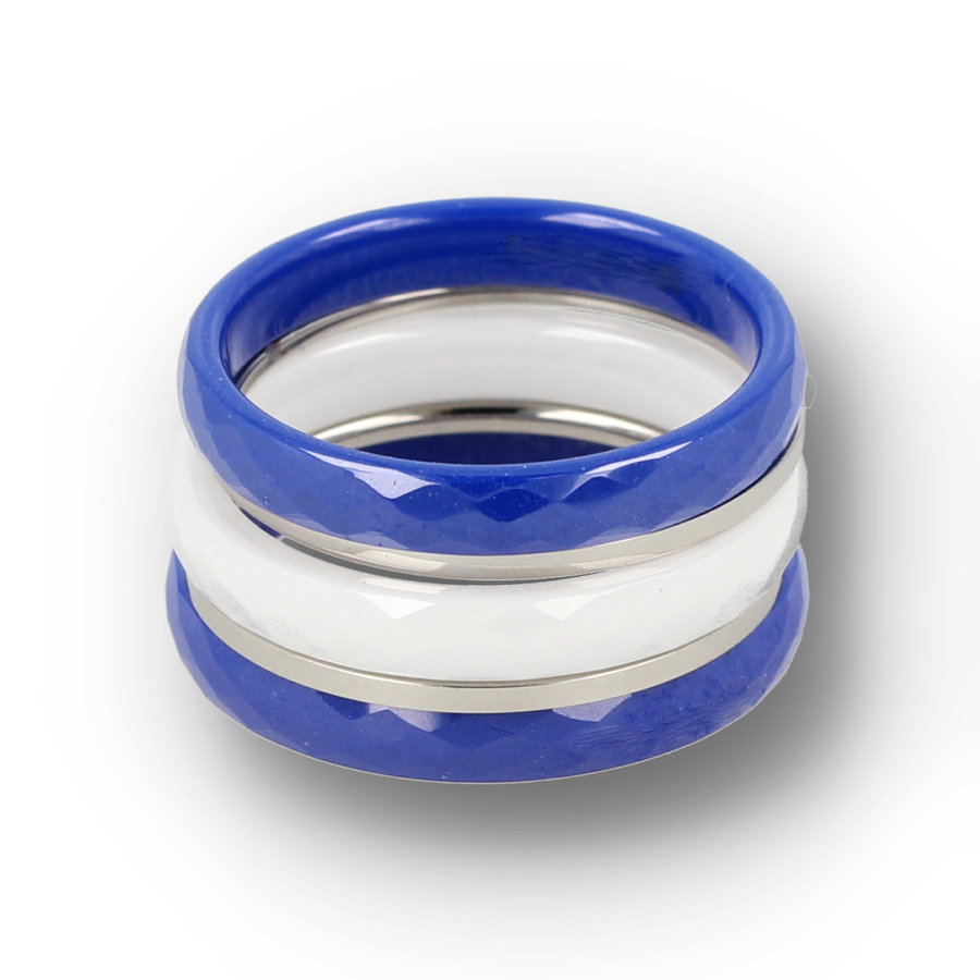 Picolo Summer ring set. Wears wonderfully and is unbreakable.
