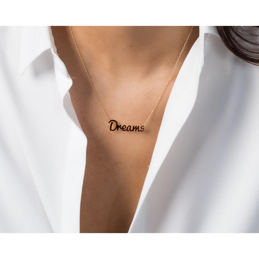 Picolo Dreamketting- goud- gemaakt van duurzaam materiaal. verkleurt niet.