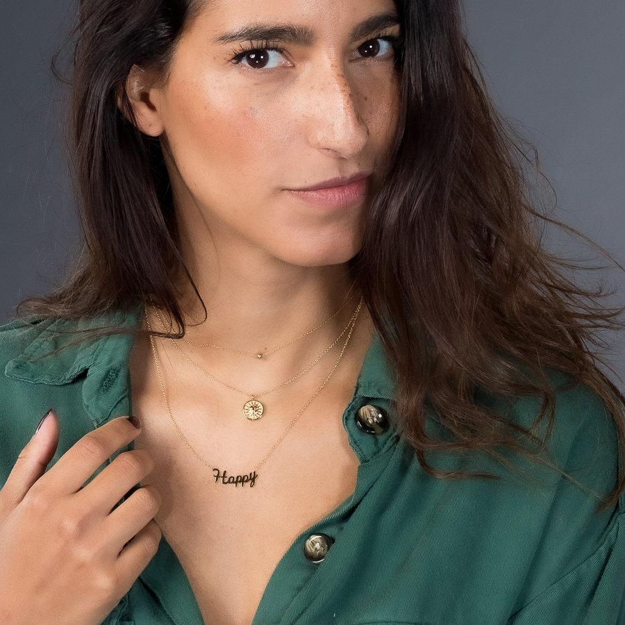 Picolo Schöne über Jahre beständige kurze Halskette mit HAPPY Charme