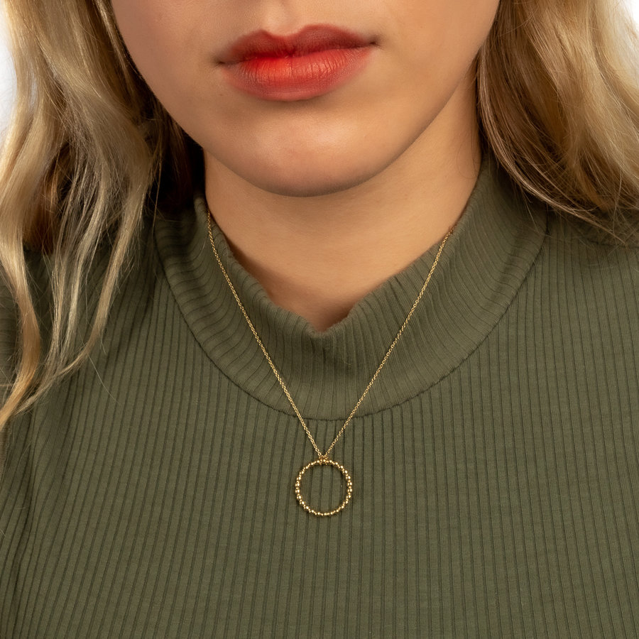 Picolo Minimalist pendant necklace with round beads