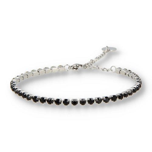 Picolo My Bendel zirkonia armband zwart zilver