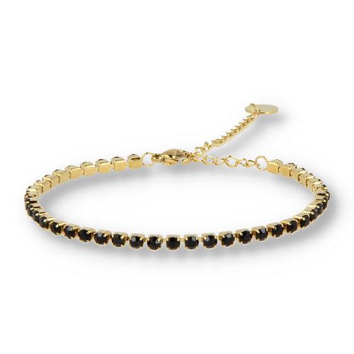 Picolo My Bendel zirkonia armband zwart goud