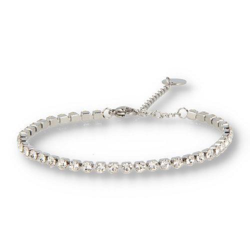 Picolo My Bendel weiß silbernes Zirkonia Armband
