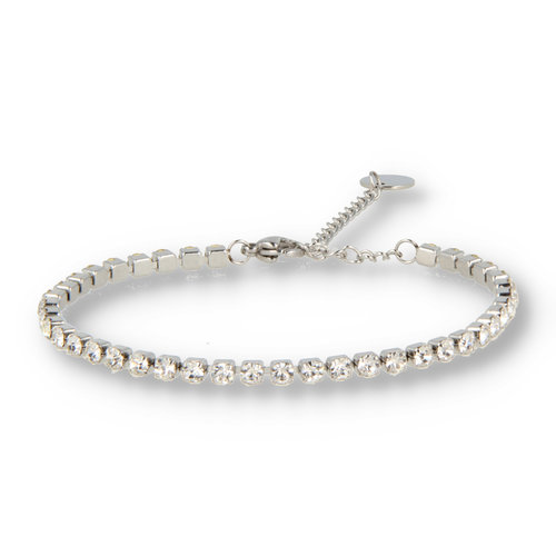 Picolo My Bendel zirkonia armband wit zilver
