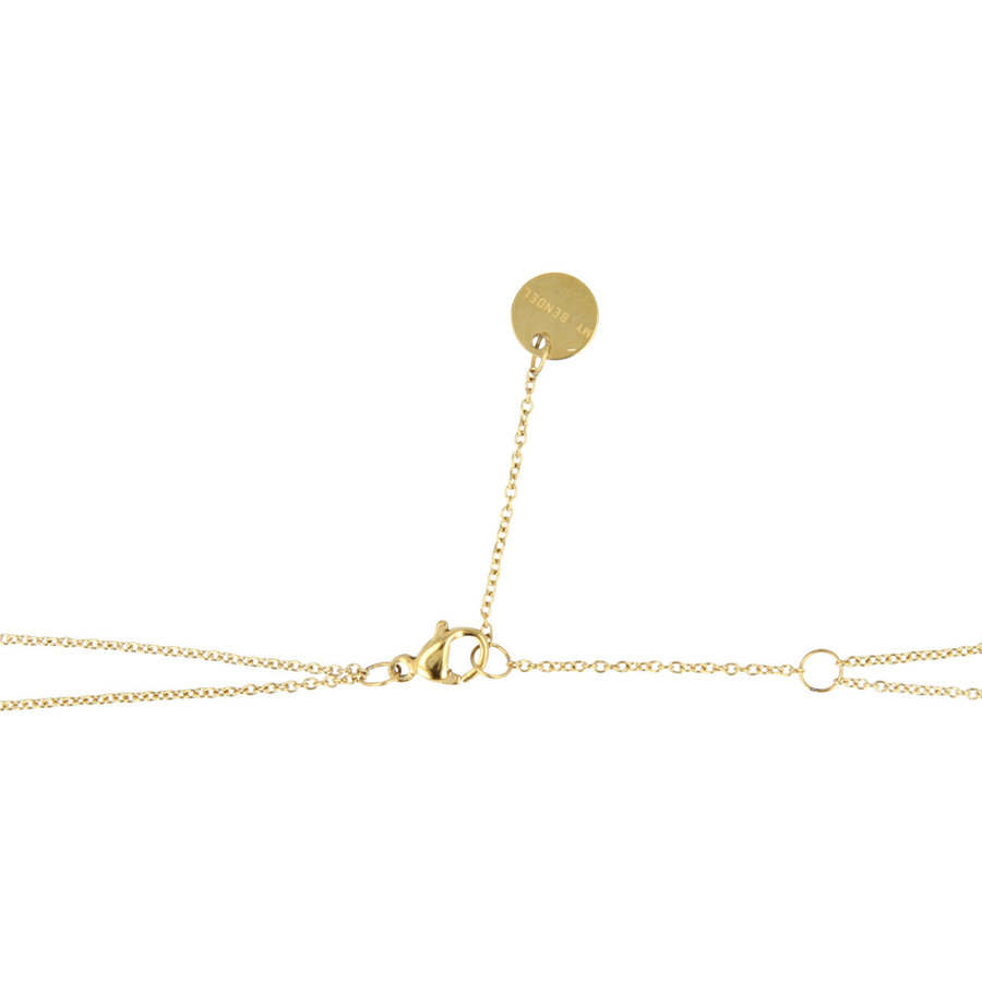 Picolo Dubbele gouden ketting met hartjes
