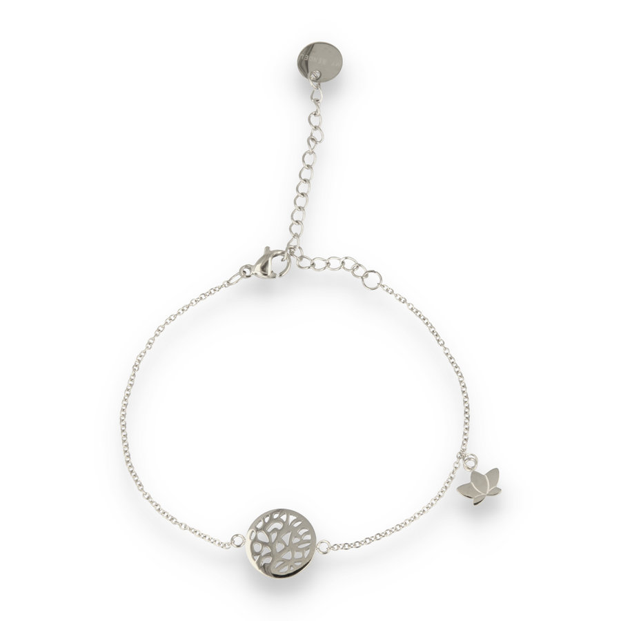 Picolo Silver bracelet with lotus tree of life charm
