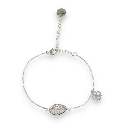 Picolo PO2316 - silver charm bracelet with clover
