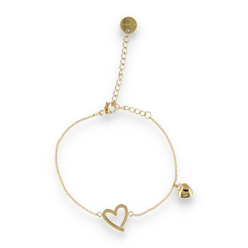 Picolo PO2315 - goldenes Charm Armband Herzen