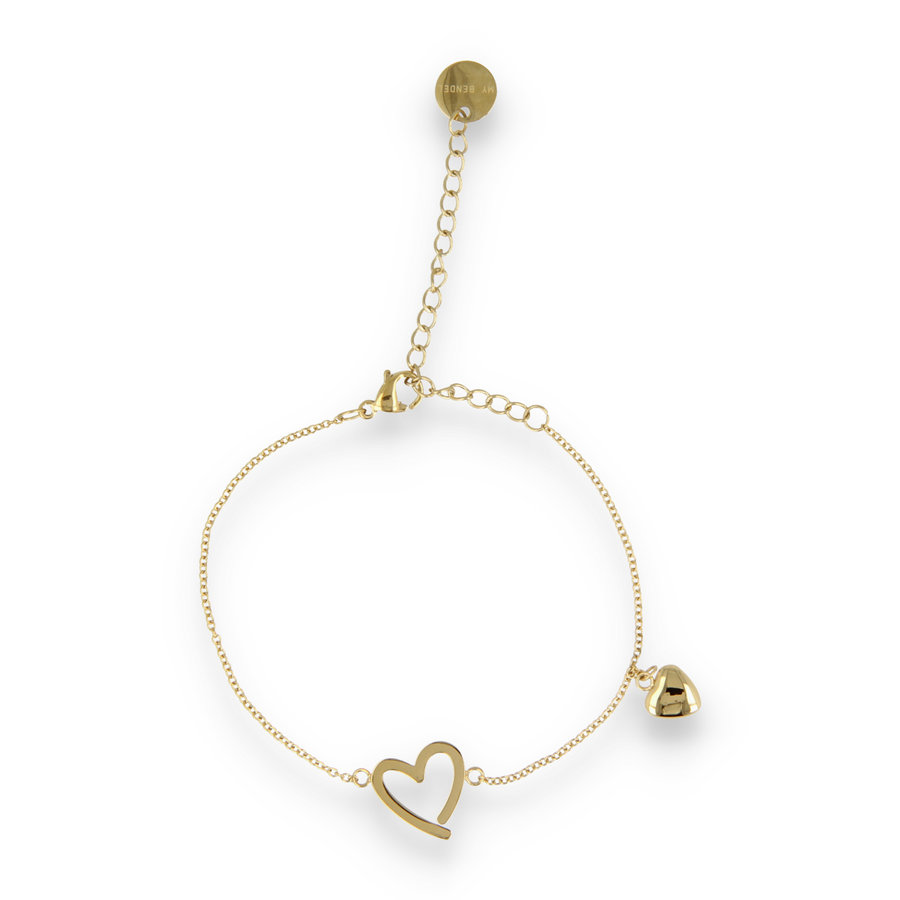 Picolo Bracelet with two hearts.