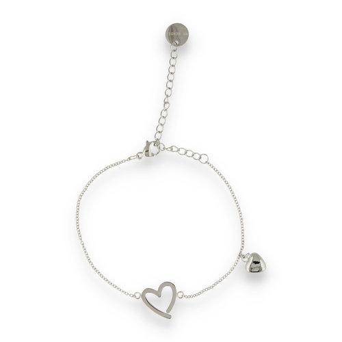 Picolo PO2314 - Zilveren bedelarmband hartjes
