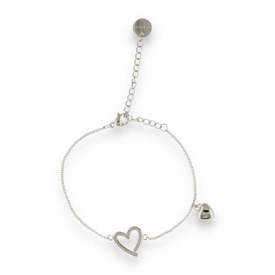 Picolo Silver bracelet with heart charms