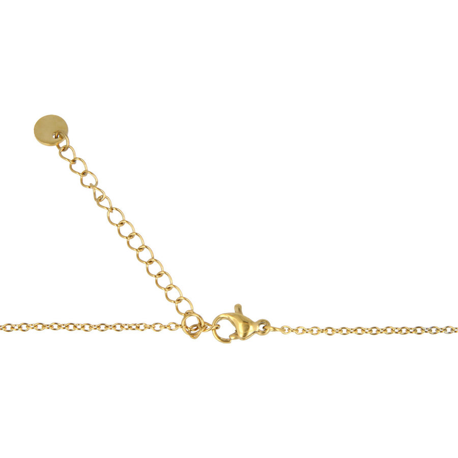 Godina Gold-colored necklace with delicate beads