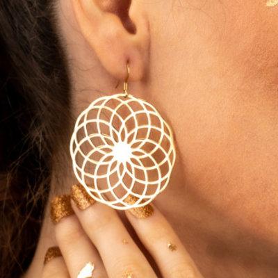 Large earrings
