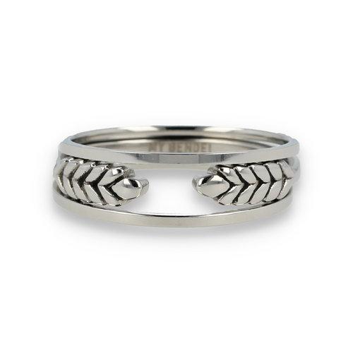 Picolo Ringenset zilver met open ring