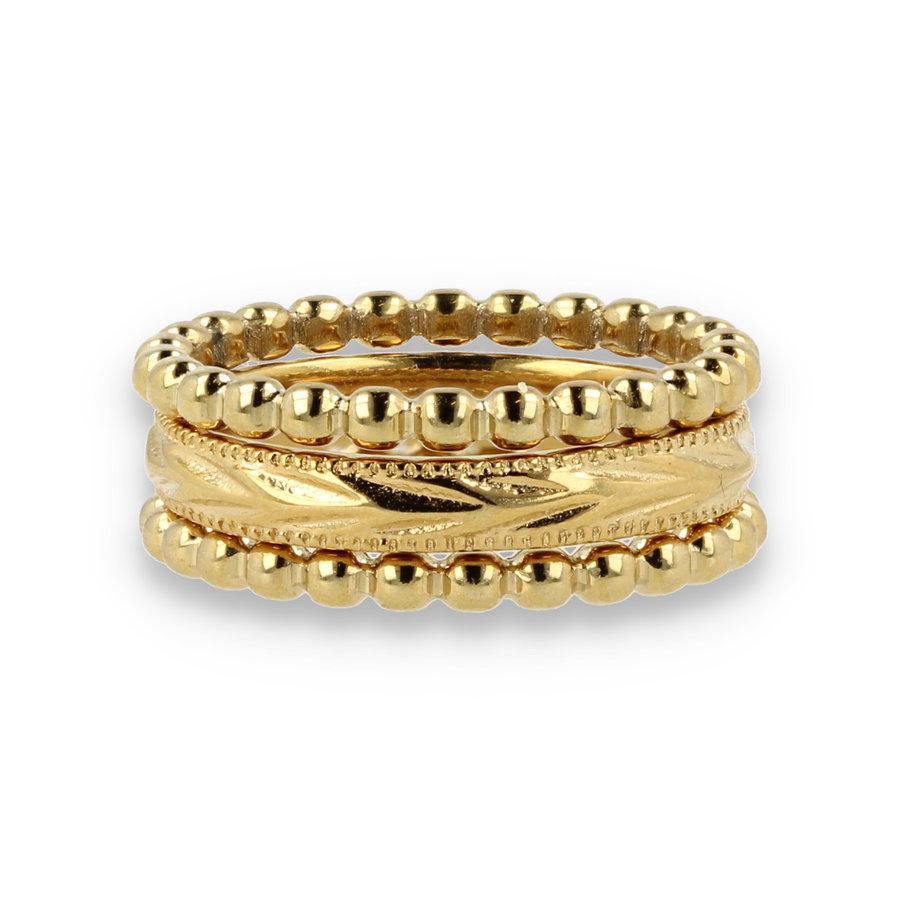 Picolo Ringenset van 3 gouden ringen