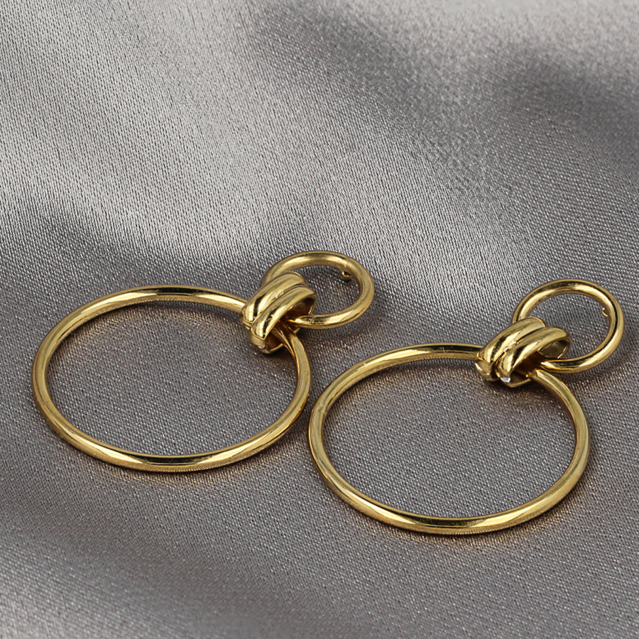 Picolo Gold earrings with circles