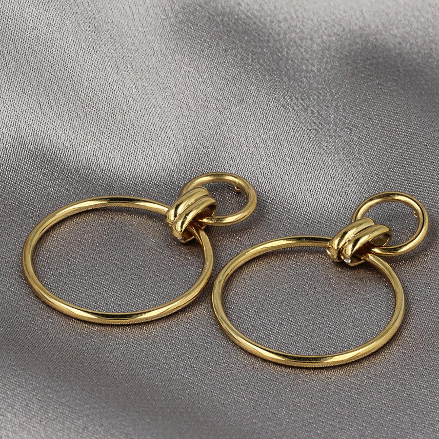 Picolo Goldohrringe mit Kreisen