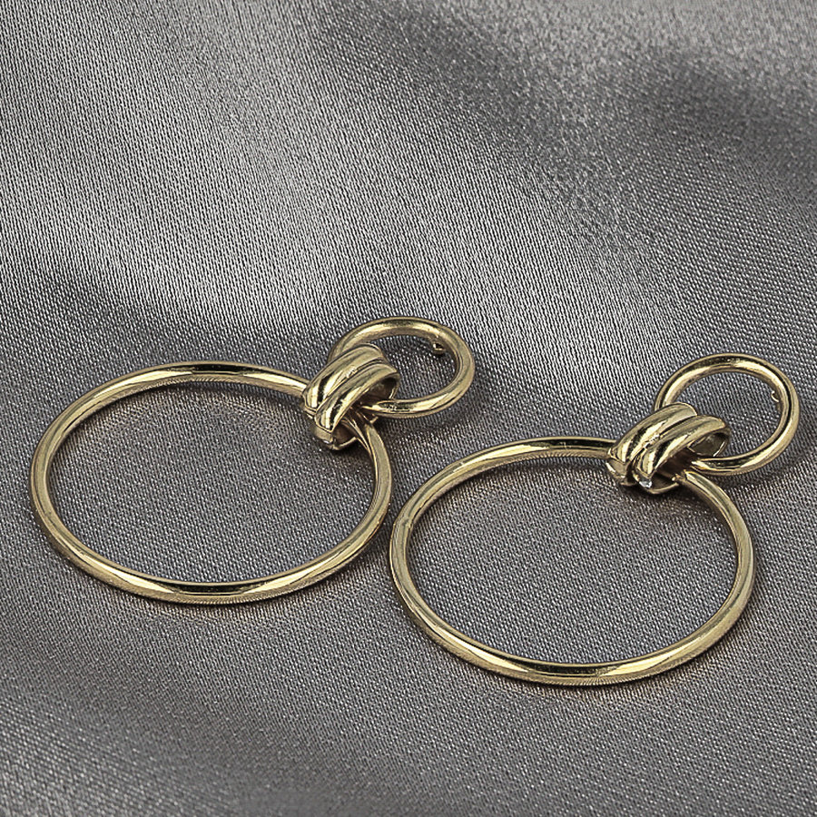 Picolo Silver earrings with circle pendants