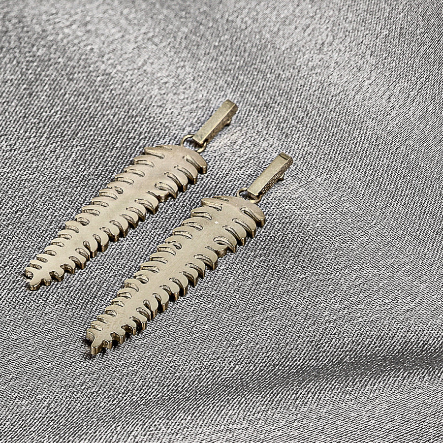 Picolo Silver earrings with feather