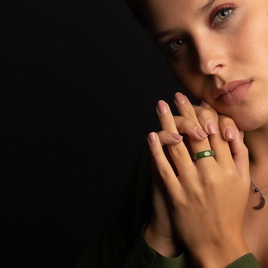 Godina Mooi blijvende keramische groene ring. Onbreekbaar.