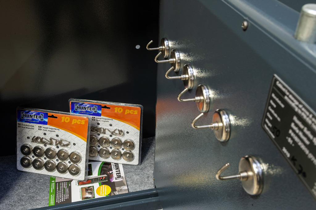 Set van 10 magnetische sleutelhaken.