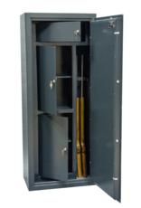 NL-1106 wapenkluis met 3 binnenkluizen en voor 2 geweren