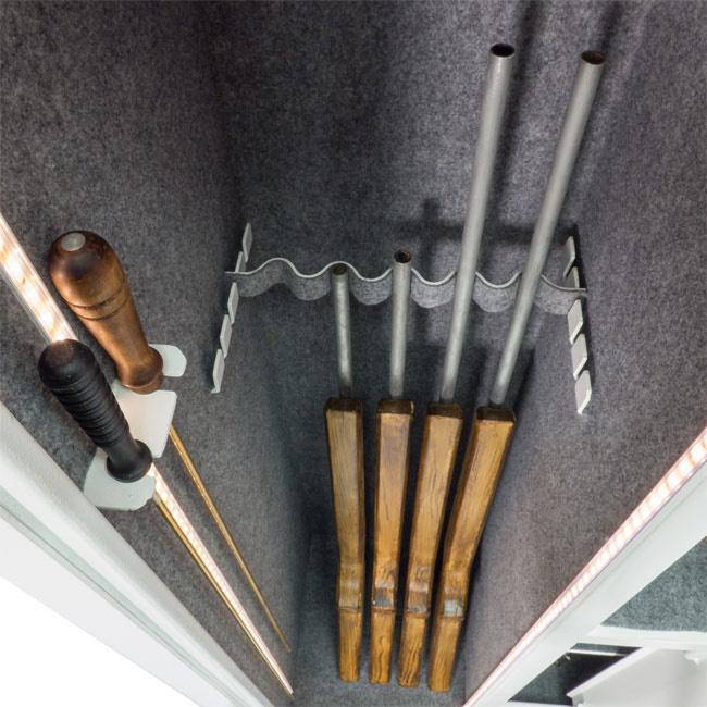 Wapenkluis 1389 voor 5 geweren en pistolen