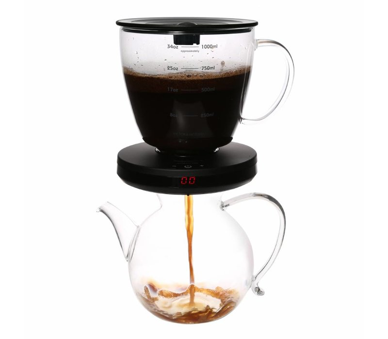 Coffee filter with timer