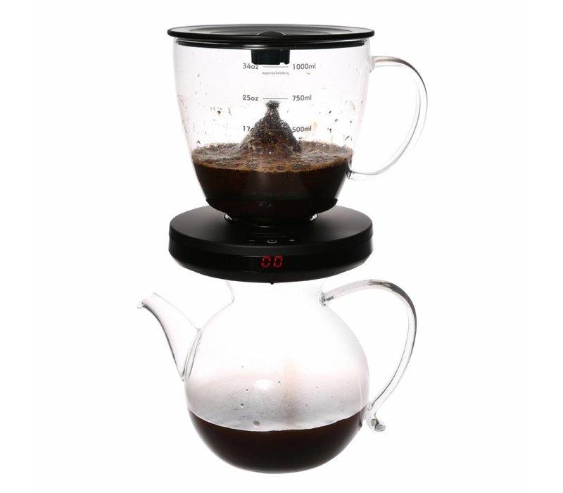 Kaffeefilter mit Zeituhr