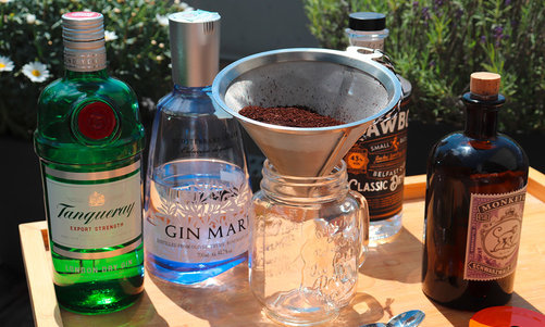 the best summer drink ever - ICED GIN COFFEE