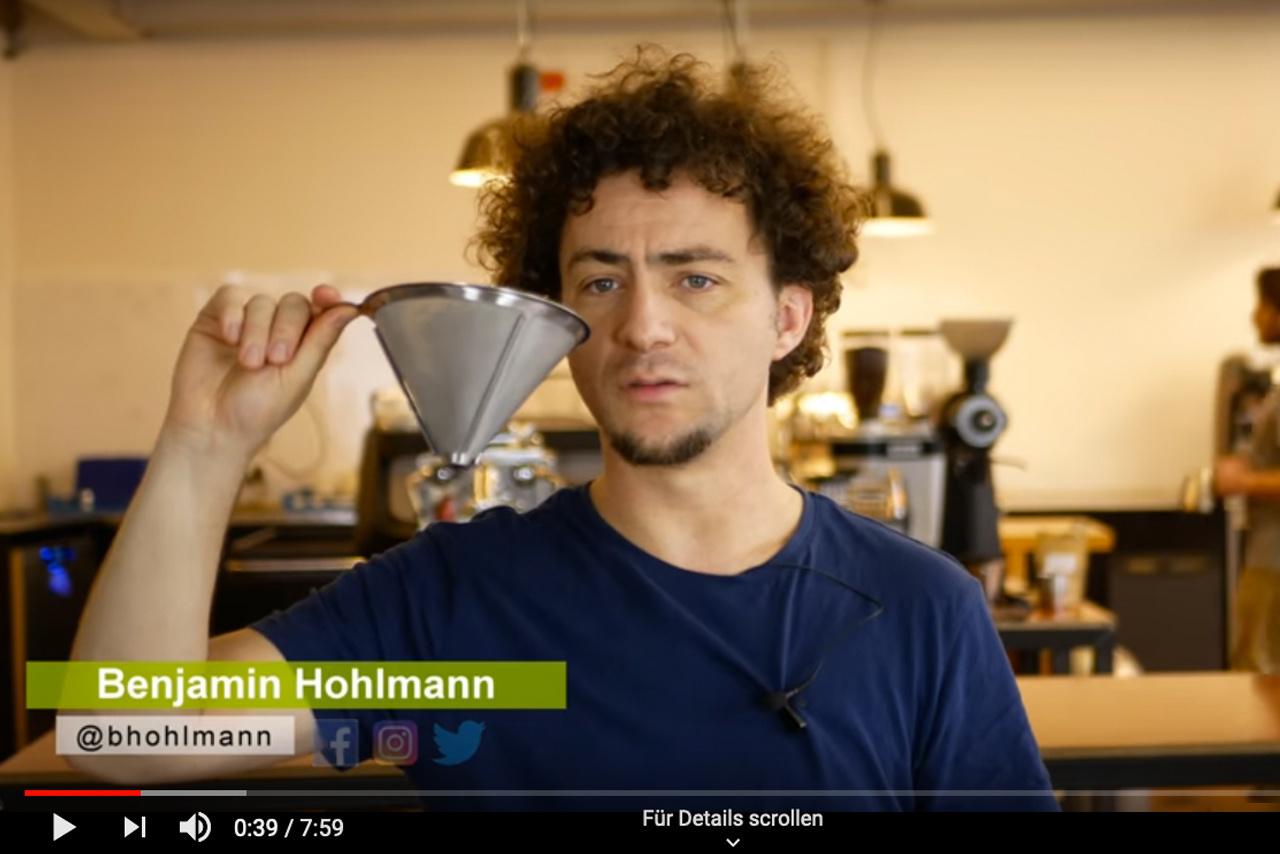 Die Kaffeemacher testen den Coffee Dribbler