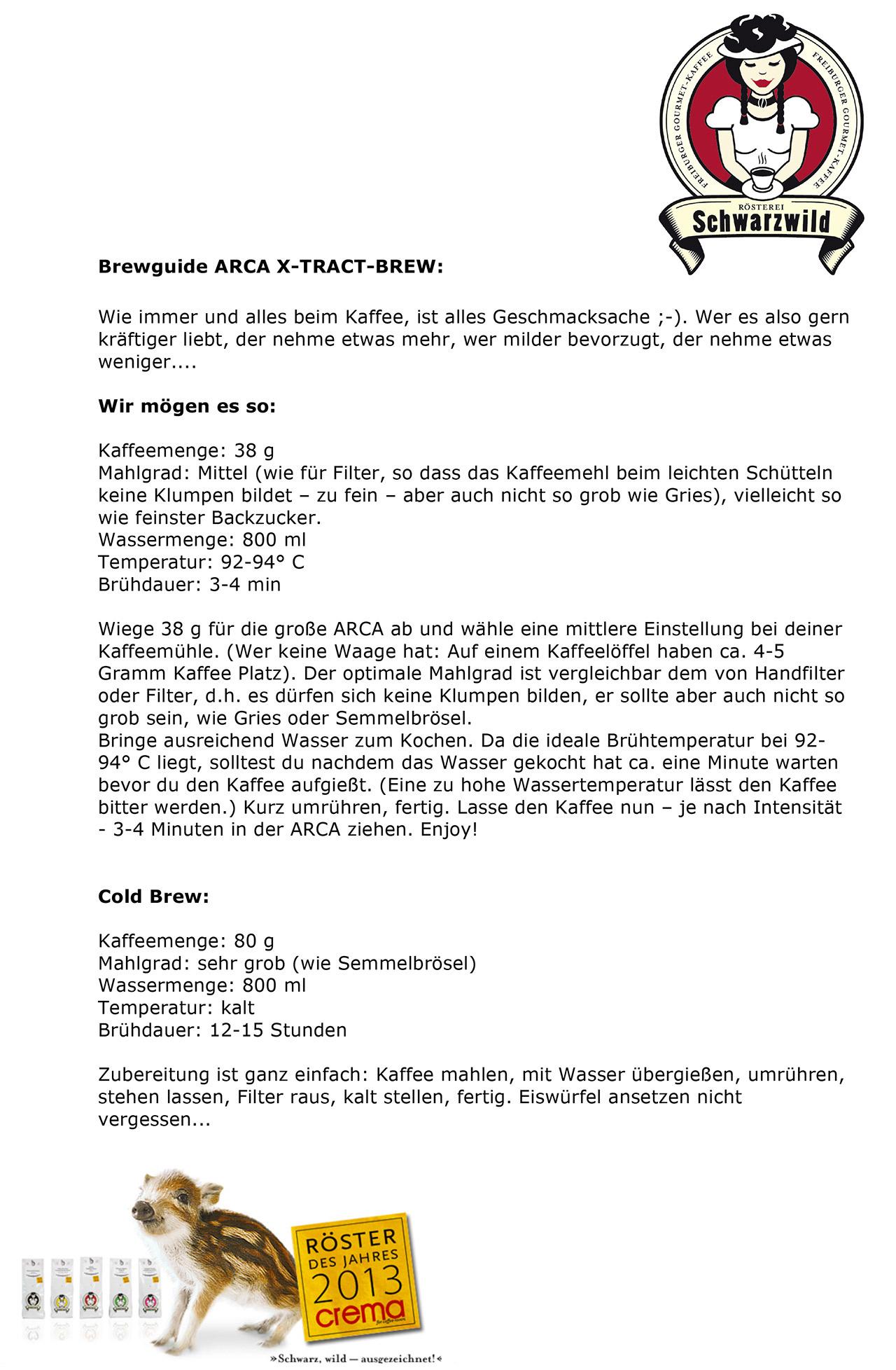 Brewguide Schwarzwald Kaffee