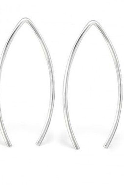 Puristic earring bracket made of 925 sterling silver