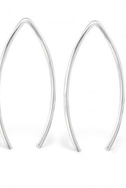 Puristischer Ohrring Bügel aus 925er Sterling Silber