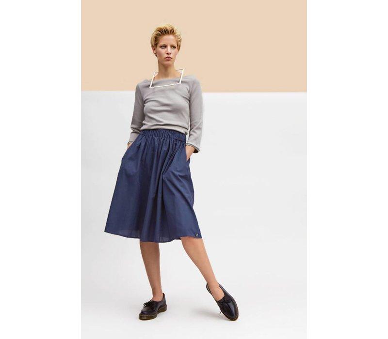 Batiste skirt slate blue