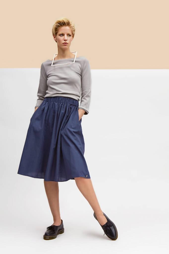 Batiste skirt slate blue-1