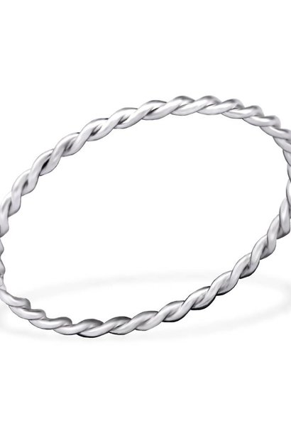 Fine braided ring of 925 sterling silver