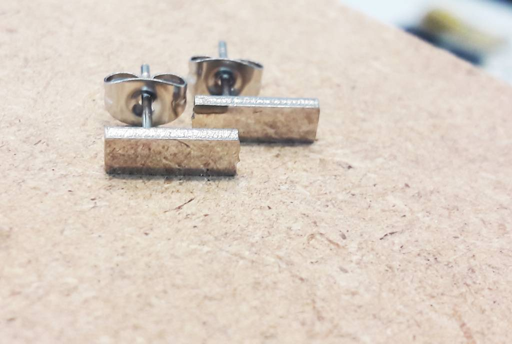Fine ear plug made of stainless steel-2