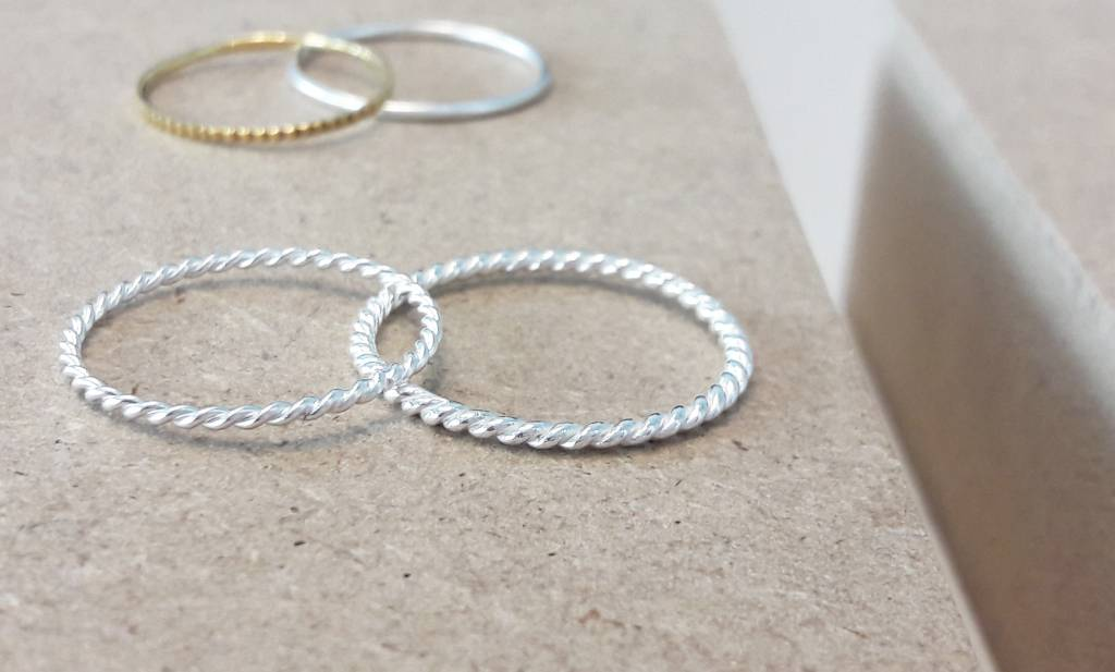 Fine braided ring of 925 sterling silver-2