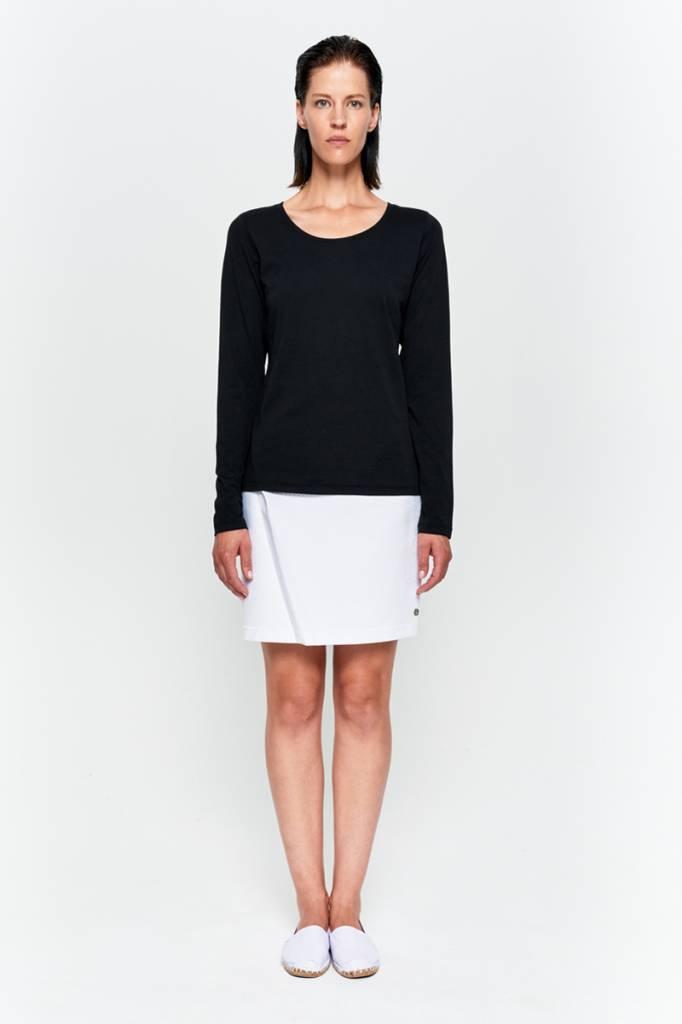 Basic Langarm-Shirt aus Bio-Baumwolle weiß-2