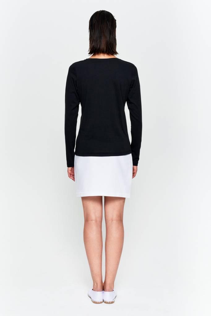 Basic Langarm-Shirt aus Bio-Baumwolle weiß-3